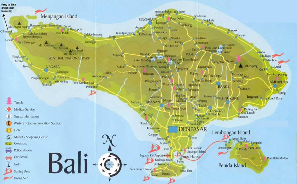 Large Bali Maps For Free Download And Print | High-Resolution And for Printable Map Of Bali