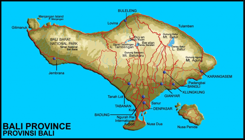 Large Bali Maps For Free Download And Print | High-Resolution And within Printable Map Of Bali