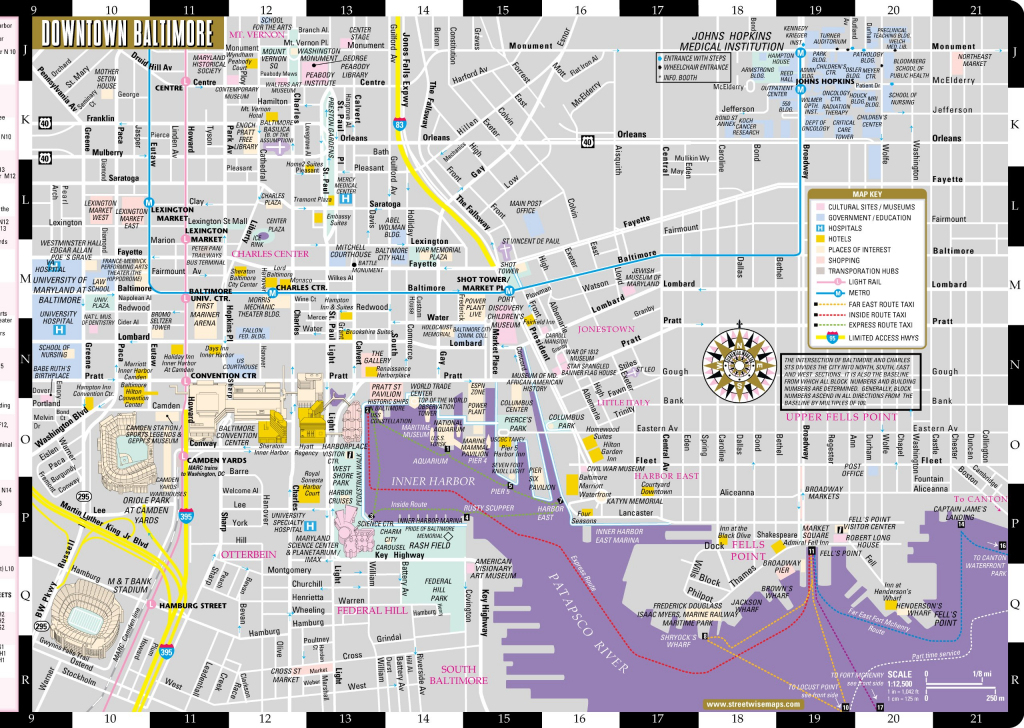 Large Baltimore Maps For Free Download And Print   High-Resolution intended for Printable Map Of Baltimore