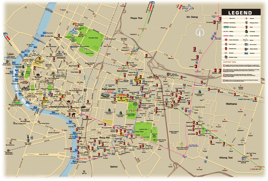 Large Bangkok Maps For Free Download And Print | High-Resolution And in Printable Map Of Bangkok