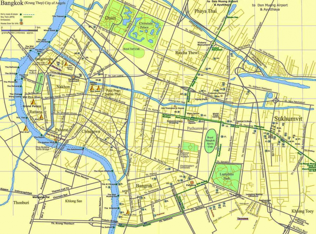 Large Bangkok Maps For Free Download And Print | High-Resolution And regarding Printable Map Of Bangkok