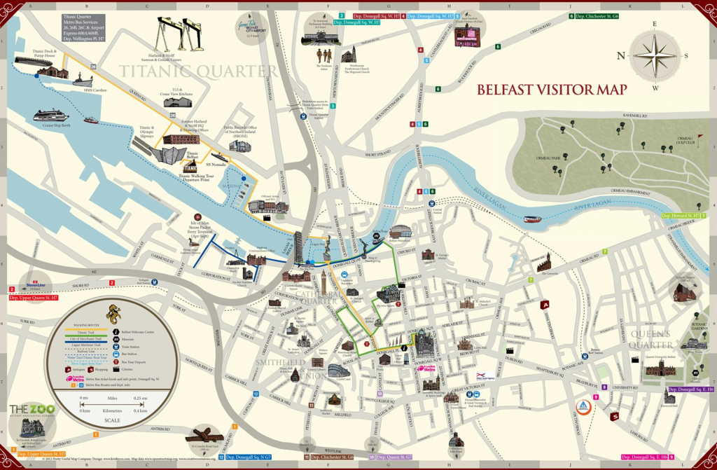 Large Belfast Maps For Free Download And Print | High-Resolution And in Belfast City Map Printable