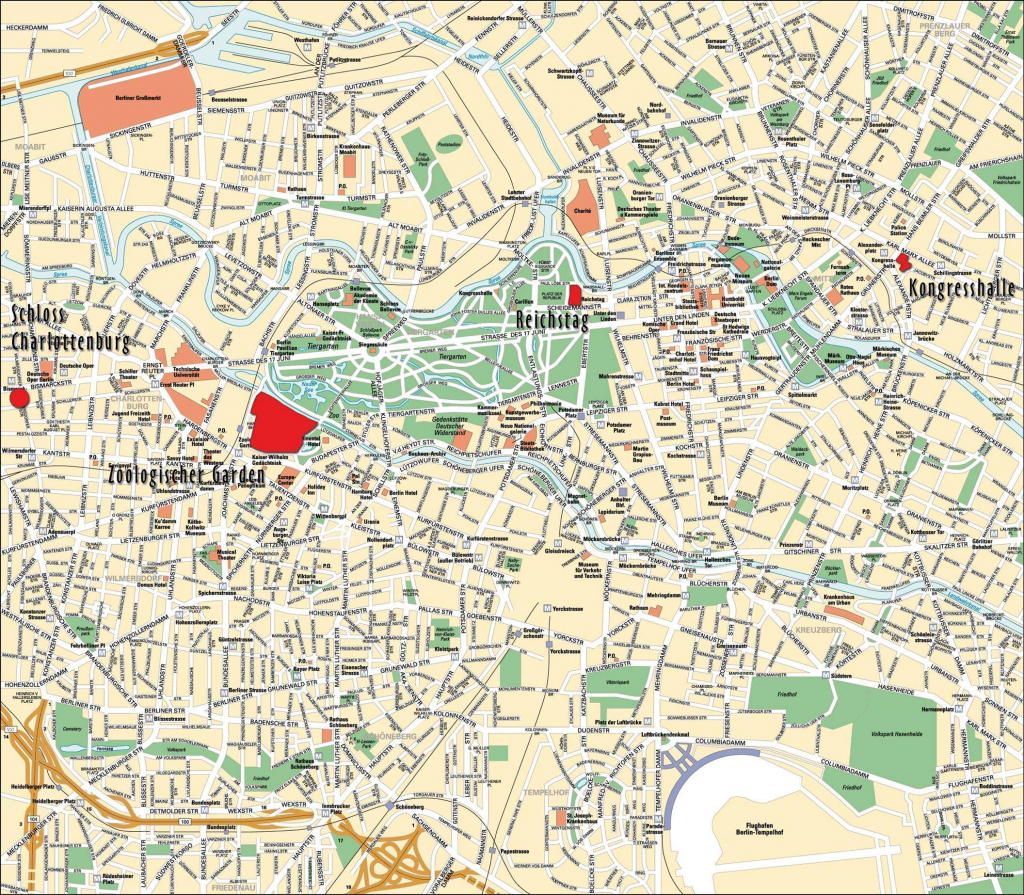 Large Berlin Maps For Free Download And Print | High-Resolution And in Printable Map Of Berlin