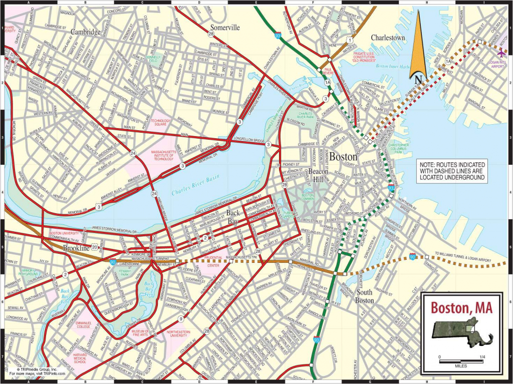 Large Boston Maps For Free Download And Print | High-Resolution And inside Printable Map Of Boston