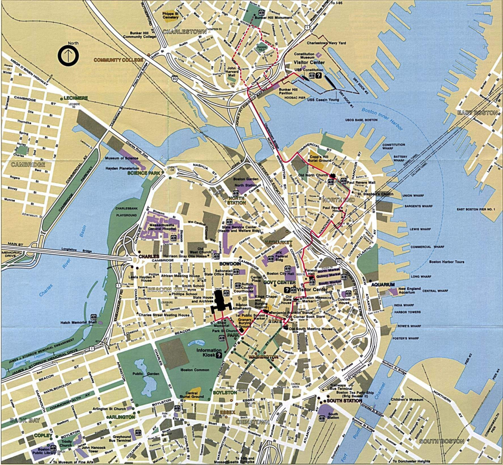 Large Boston Maps For Free Download And Print | High-Resolution And with regard to Boston City Map Printable
