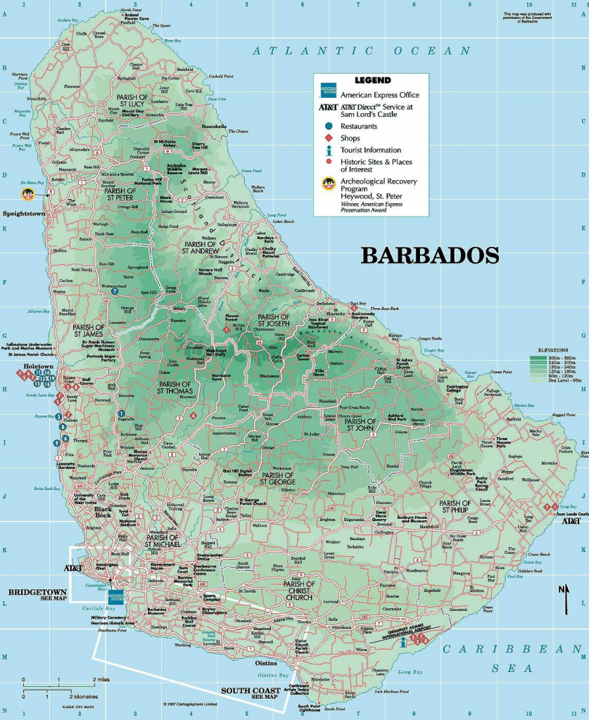 Large Bridgetown Maps For Free Download And Print | High-Resolution for Printable Map Of Barbados