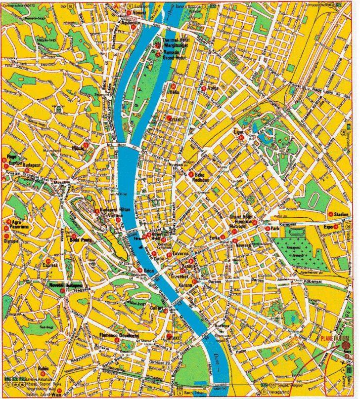 Budapest Street Map Printable