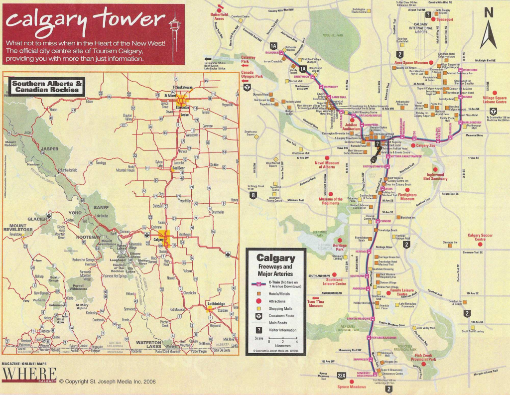 Large Calgary Maps For Free Download And Print | High-Resolution And in Printable Map Of Calgary