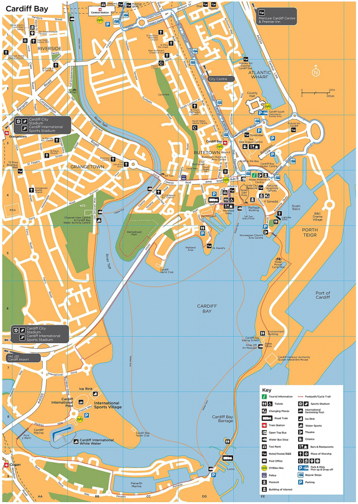 Large Cardiff Maps For Free Download And Print | High-Resolution And pertaining to Printable Map Of Cardiff