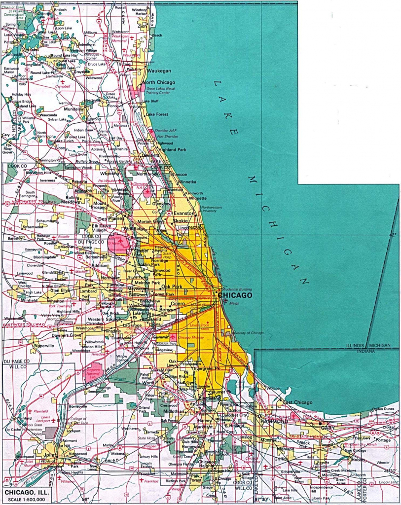 Large Chicago Maps For Free Download And Print | High-Resolution And within Chicago City Map Printable