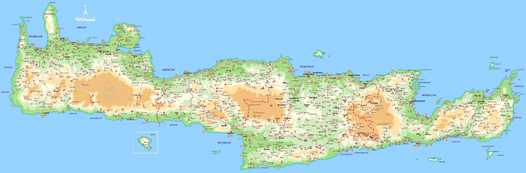 Large Crete Maps For Free Download And Print | High-Resolution And throughout Printable Map Of Crete