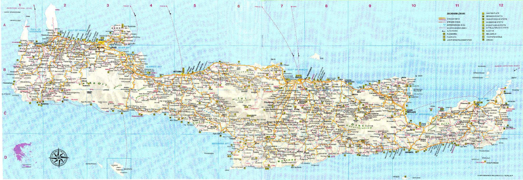 Large Crete Maps For Free Download And Print | High-Resolution And with regard to Printable Map Of Crete