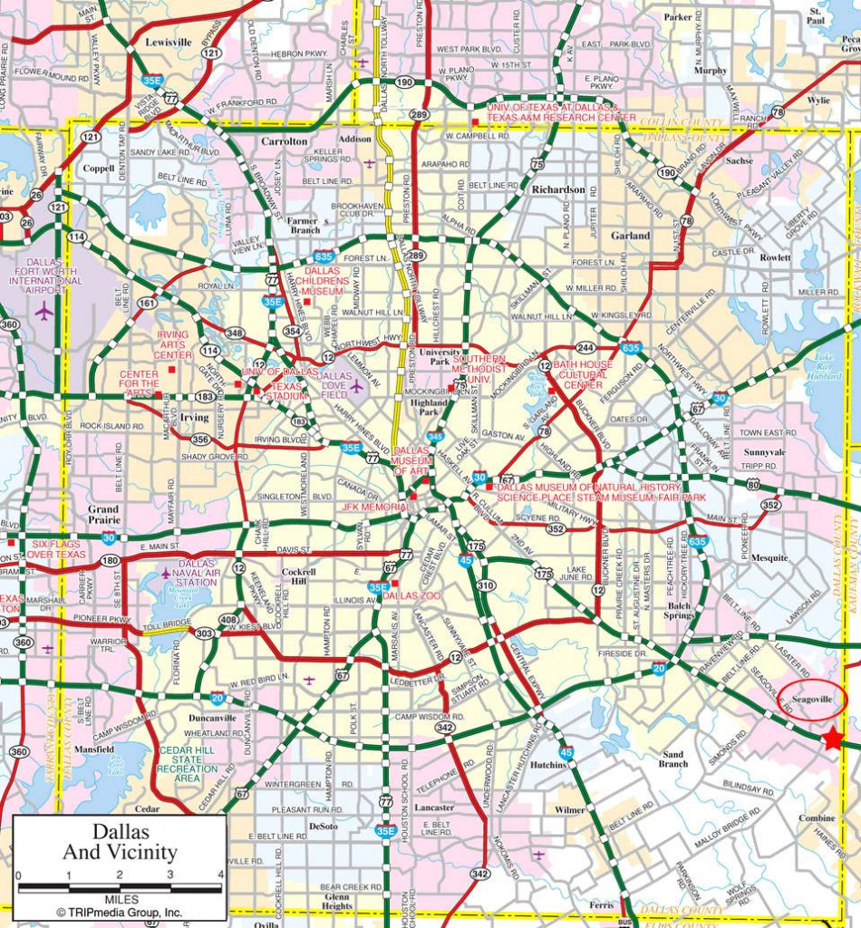 Large Dallas Maps For Free Download And Print | High-Resolution And with regard to Printable Map Of Dallas Fort Worth Metroplex