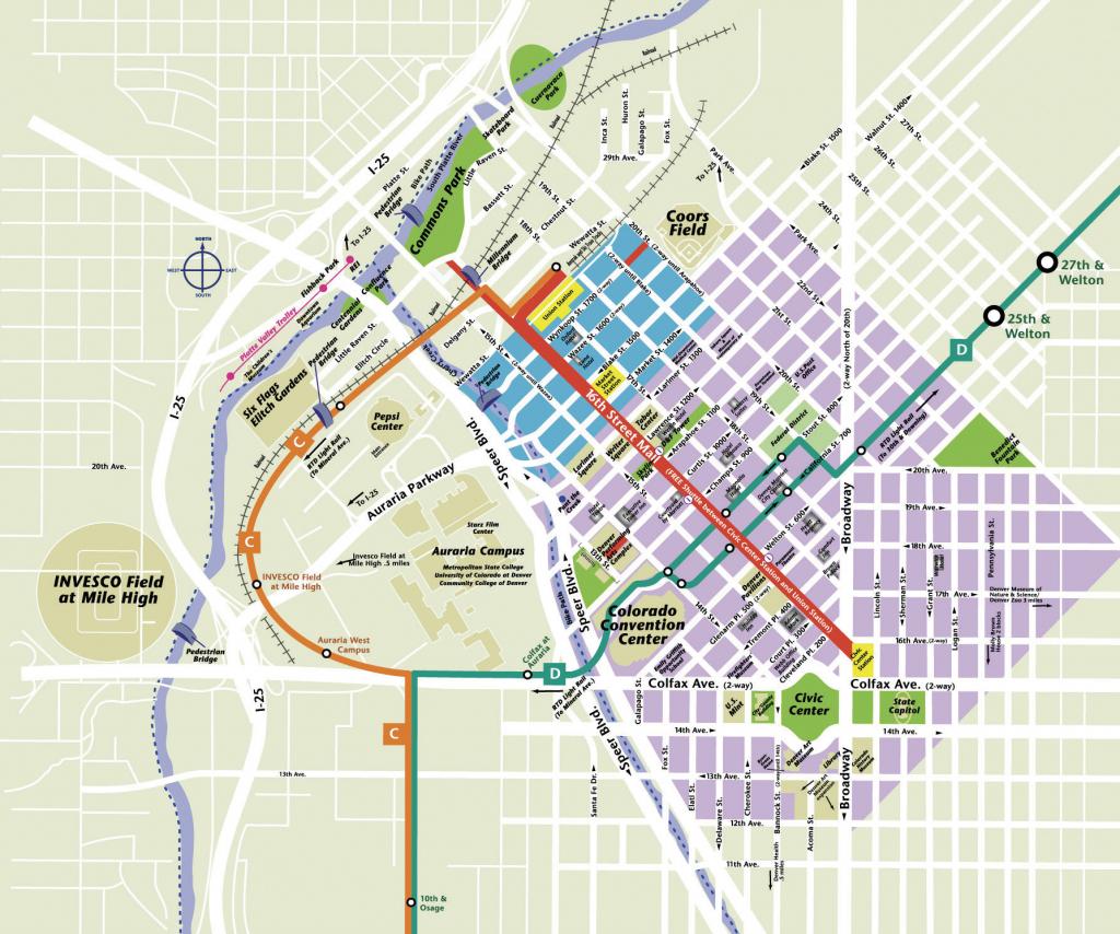 Large Denver Maps For Free Download And Print   High-Resolution And with regard to Printable Map Of Denver