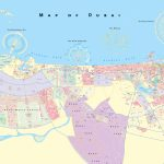 Large Detailed Map Of Dubai Inside Printable Map Of Dubai