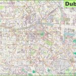 Large Detailed Map Of Dublin With Regard To Printable Map Of Dublin