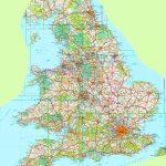 Large Detailed Map Of England Regarding Printable Map Of Britain