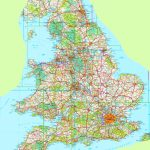 Large Detailed Map Of England With Regard To Printable Map Of England