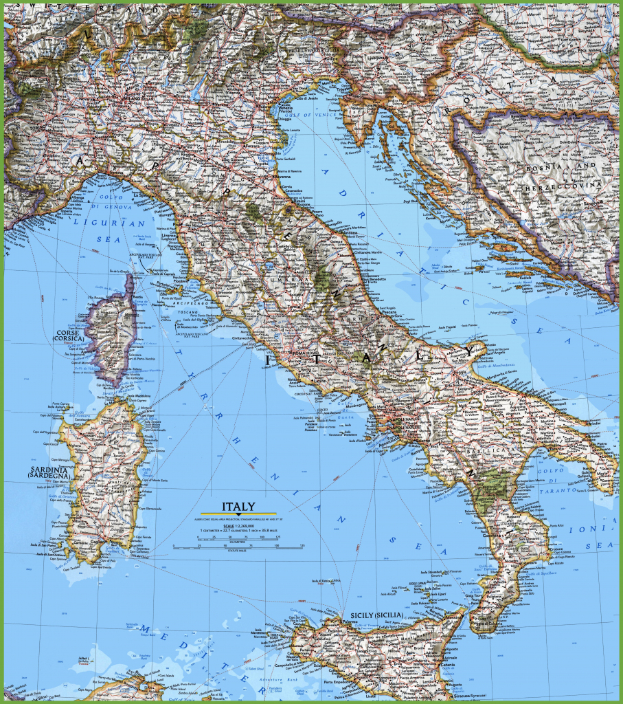 Large Detailed Map Of Italy With Cities And Towns inside Printable Map Of Italy With Cities And Towns