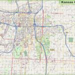 Large Detailed Map Of Kansas City With Printable Kansas Map With Cities