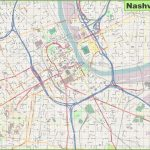 Large Detailed Map Of Nashville For Printable Map Of Nashville