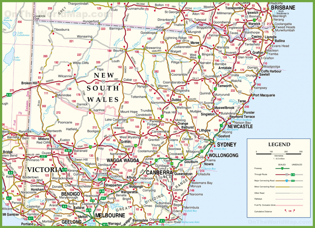 Large Detailed Map Of New South Wales With Cities And Towns pertaining to Printable Map Of Australia With Cities And Towns Pdf