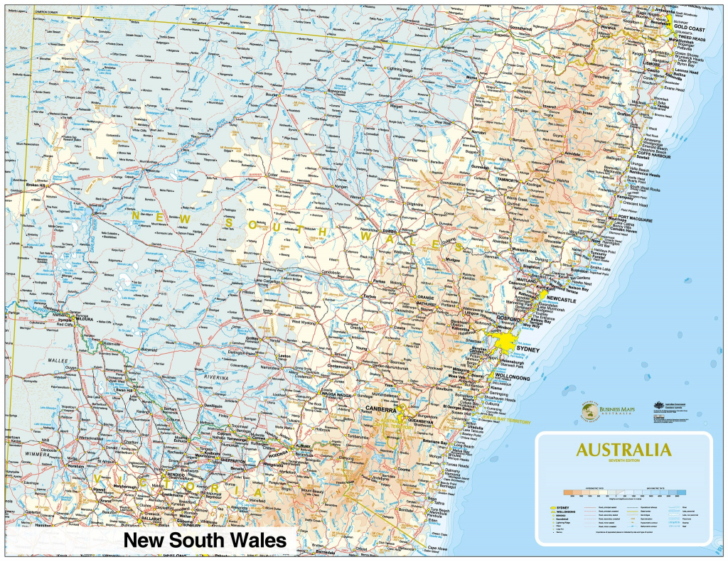 Large Detailed Map Of Nsw With Cities And Towns Australia New South intended for Printable Map Of Nsw