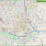 Large Detailed Map Of Oklahoma City Pertaining To Printable Map Of Oklahoma
