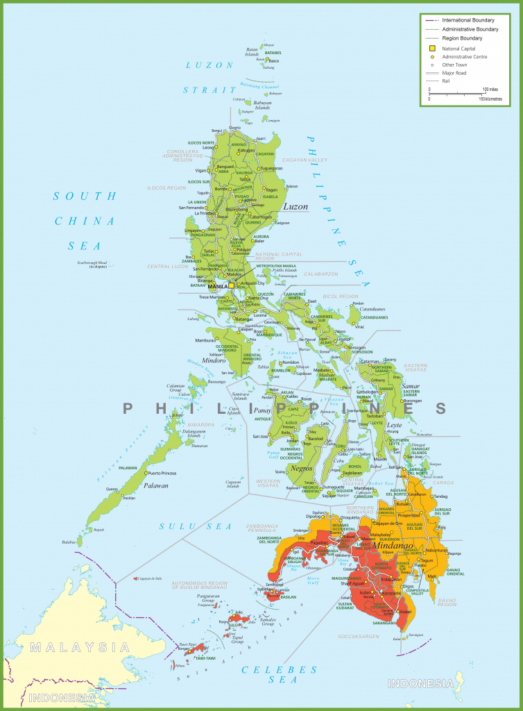 Large Detailed Map Of Philippines regarding Free Printable Map Of The Philippines