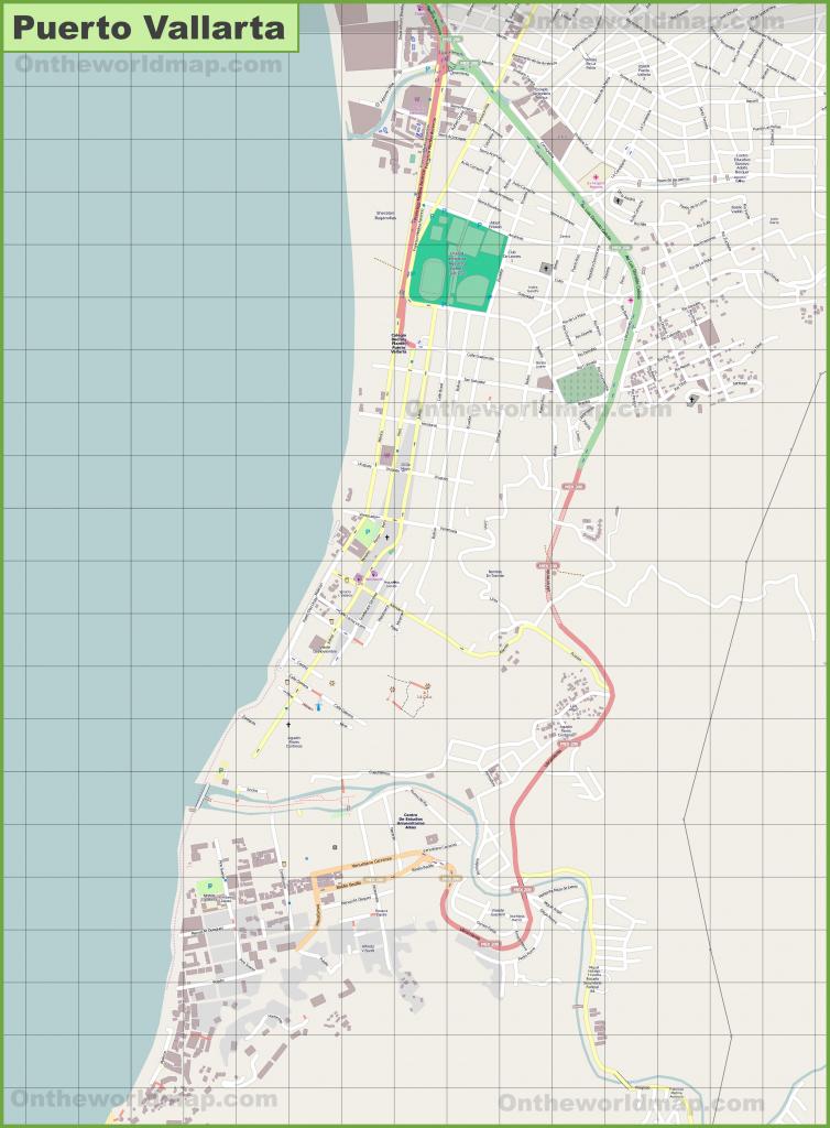 Large Detailed Map Of Puerto Vallarta pertaining to Puerto Vallarta Maps Printable