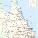 Large Detailed Map Of Queensland With Cities And Towns In Printable Town Maps