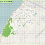 Large Detailed Map Of San Miguel De Cozumel Regarding Printable Street Map Of Cozumel