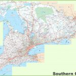 Large Detailed Map Of Southern Ontario In Printable Map Of Ontario