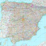 Large Detailed Map Of Spain With Cities And Towns With Printable Map Of Spain With Cities