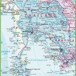 Large Detailed Map Of Thailand With Airports Resorts And Beaches Within Printable Map Of Thailand