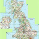 Large Detailed Map Of Uk With Cities And Towns Regarding Printable Road Maps Uk