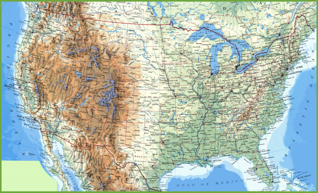 Large Detailed Map Of Usa With Cities And Towns with Printable Map Of Usa With States And Cities