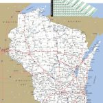 Large Detailed Map Of Wisconsin With Cities And Towns Within Printable Map Of Wisconsin Cities