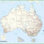 Large Detailed Road Map Of Australia Intended For Queensland Road Maps Printable
