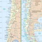 Large Detailed Road Map Of Chile Regarding Printable Map Of Chile
