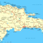 Large Detailed Road Map Of Dominican Republic. Dominican Republic Throughout Printable Map Of Dominican Republic