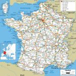 Large Detailed Road Map Of France With All Cities And Airports Pertaining To Printable Road Maps