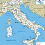 Large Detailed Road Map Of Italy With All Cities And Airports Within Large Printable Map