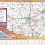 Large Detailed Road Map Of Oklahoma With Printable Map Of Oklahoma