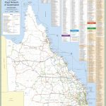Large Detailed Road Map Of Queensland Intended For Queensland Road Maps Printable