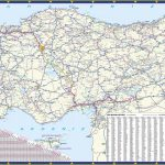 Large Detailed Road Map Of Turkey Inside Printable Map Of Turkey