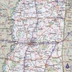 Large Detailed Roads And Highways Map Of Mississippi State With With Printable Map Of Ms