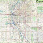 Large Detailed Street Map Of Denver With Regard To Printable Map Of Denver