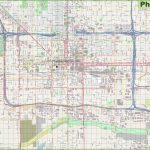 Large Detailed Street Map Of Phoenix For Printable Map Of Phoenix