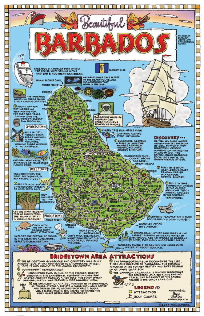 Large Detailed Tourist Map Of Barbados. Barbados Large Detailed for Printable Map Of Barbados
